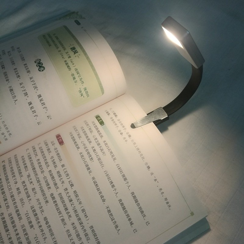 Flexible Dimming Mini Eye Protection USB Clip Book Light for Reading Blister packaging