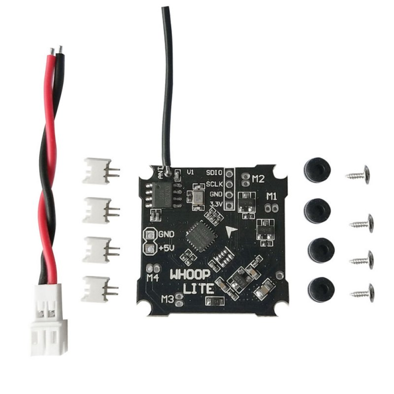 Flight Controller Board with Silverware Firmware for Whoop Lite Mini Brushed Flight Control with 55mm PH-JST 2.0 Power Cable
