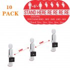 Floor Decals Stand Here Social Distancing Marker Floor Decal For Social Distancing While In Line 10pcs