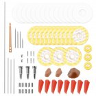 Flute Repair Maintenance Tools Kit Screws+Gaskets+Pads+Dowels+Reed Musical Instrument Accessories