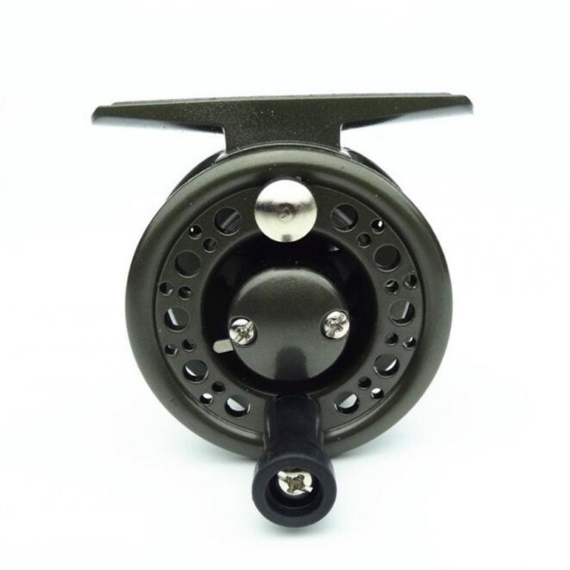 Fly Fishing Reels Wheel for Carp Fishing Super Strong Raft Reel Fishing Tackle SL40# gray blck