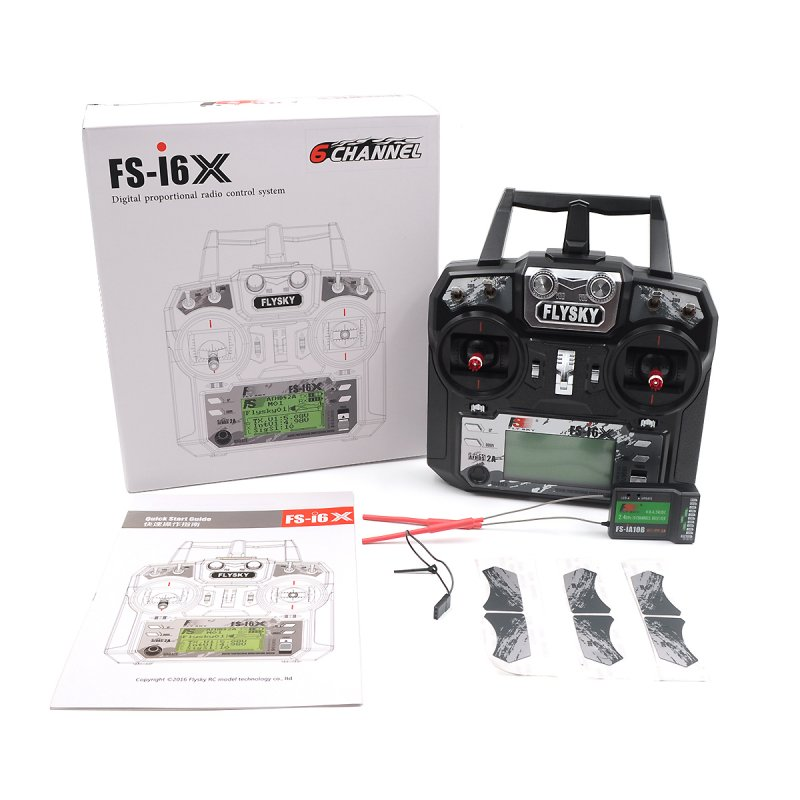 Flysky FS-i6X i6X 10CH 2.4GHz AFHDS 2A RC Transmitter With FS-iA10B Receiver for FPV RC Drone Left hand throttle