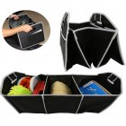 Foldable Car Trunk Organizer Bag Portable Multi Compartment Truck Van SUV Storage Basket Auto Tools Organiser