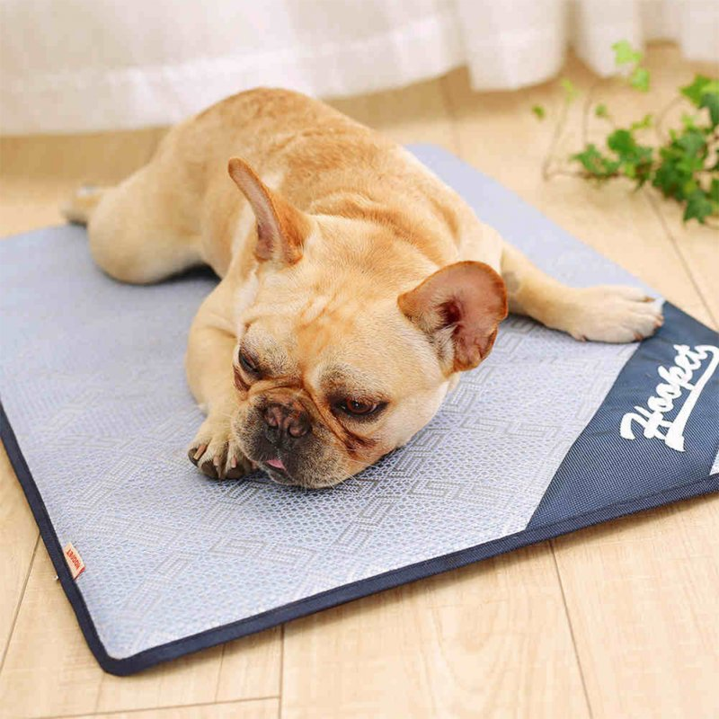 Foldable Pet Cooling Mat Cool Pad Summer Sleeping Cooling Bed Cushion for Dog Cat Puppy Light blue_S-small