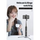 Foldable Wireless Bluetooth Selfie Stick Mini Tripod Lightweight Portable black