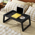 Folding Computer Desk Multifunction Laptop Lazy Table for Bed Leaning  black