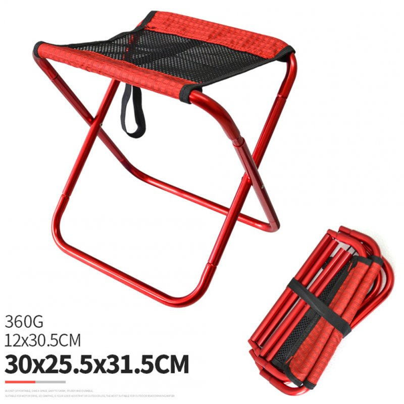 Folding Fishing Chair Lightweight Foldable Stool Outdoor Portable Outdoor Furniture red