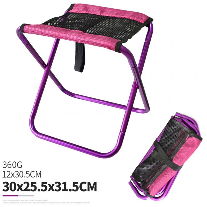 Folding Fishing Chair Lightweight Foldable Stool Outdoor Portable Outdoor Furniture purple