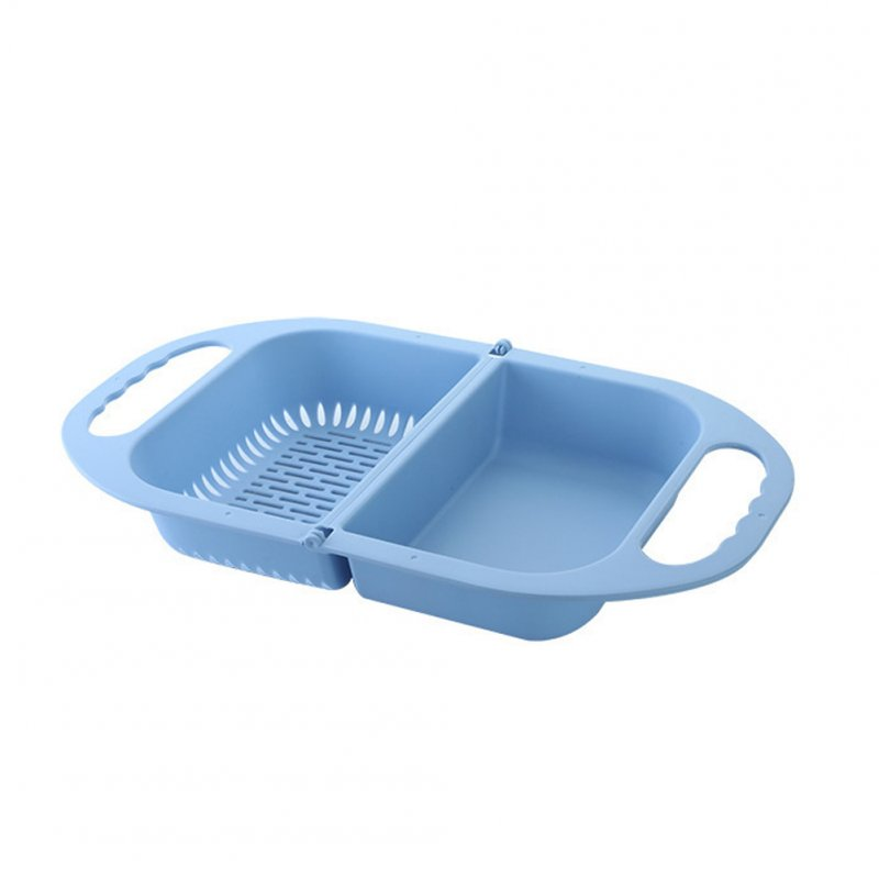 Folding Hanging Drain Basket Home Multifunction Washer for Vegetable Fruit Washing Nordic blue