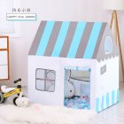 Folding House Peach Suede Oil Painting Children Princess Tent Indoor Marine Ball Game Toy blue