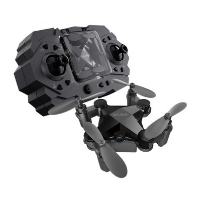 Folding Mini Drone Toy Black Transmission