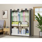 Folding Modern Oxford Cloth Wardrobe Dustproof Storage Cabinet Closet  110 45 165cm