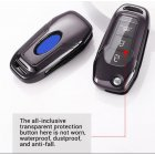 Folding Remote Key Case Shell for Ford Focus Kuga Ecosport MONDEO 3 Button Foldable Key Cover Back