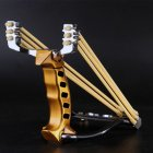 Folding Slingshot Aluminum Shooting Catapult with Rubber Bands for Hunting Slingshot Game Competition