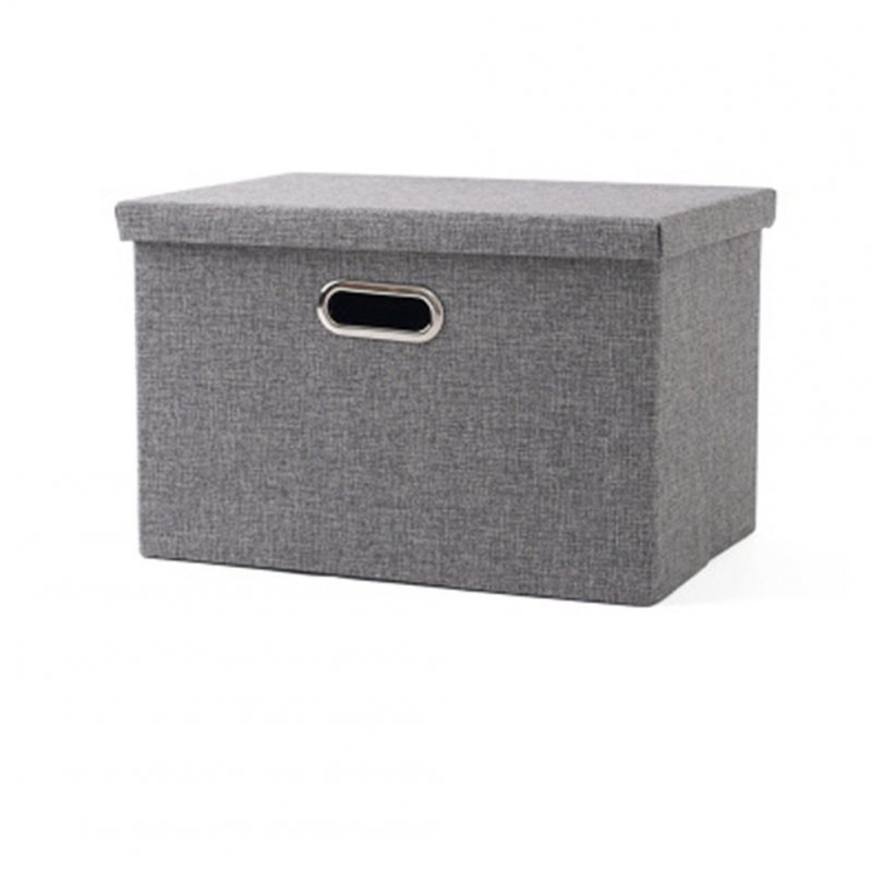 Folding Square Storage Utility Box Fabric Cube Drawer Organizer Cloth Basket Bag gray_small