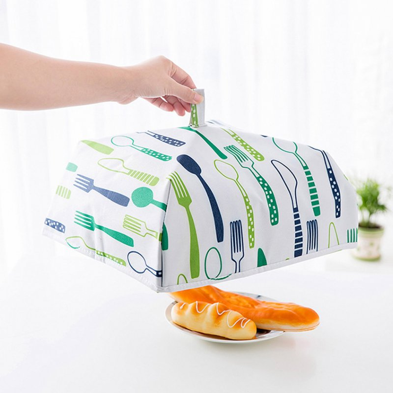 Food Cover Kitchen Portable Thermal Food Cover Folded Dustproof Collapsible Food Tent green