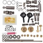 For 1/16 WPL B14 B24 B26 C14 C24 RC Car 6WD Full Metal OP Fitting Kit