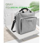 For  4 PS4Pro Portable Simple Solid Color Storage Bag Pouch Protection Case  Gray PS4 Pack Pro