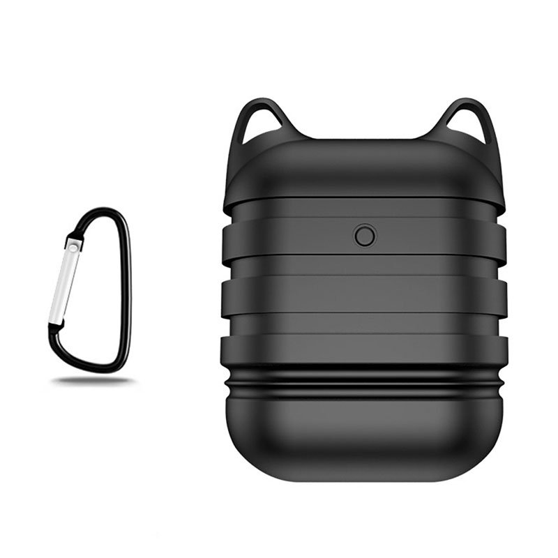 For AirPods Earphone Shock Proof Protective Case Soft Silicone Case with Hook