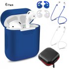 For Airpods Wireless Bluetooth Headsets Protection Set  blue