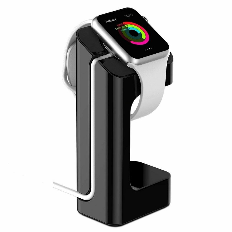 For Apple Watch Charger Stand Holder Charging Dock Station for iWatch 38 / 42mm black