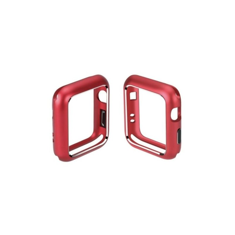 For Apple Watch iWatch Series 4/3/2/1 Magnetic Metal Bumper Case 38 40 42 44mm red_44mm