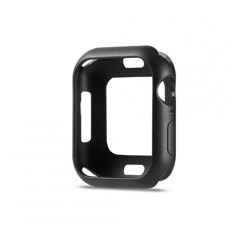 For Apple iWatch 5 Generation Protective Cover Macaron Color Apple Watch 4 black_42mm