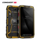 For Conquest S11 7000mAh NFC OTG IP68 Shockproof 4G Smartphone Android 7.0 6GB RAM 128GB ROM Cell Phones Rugged Mobile Phone Yellow 6+128GB