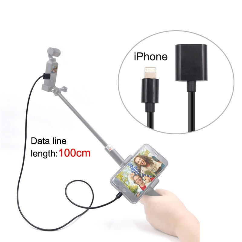 For DJI OSMO POCKET Handheld Camera Full Function Connect Phone Extension Cable USB Charging Cable  iPhone line