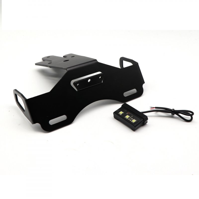 For ER-6N/F ninja650 Fender Eliminator Registration Plate Holder LED License Frame black