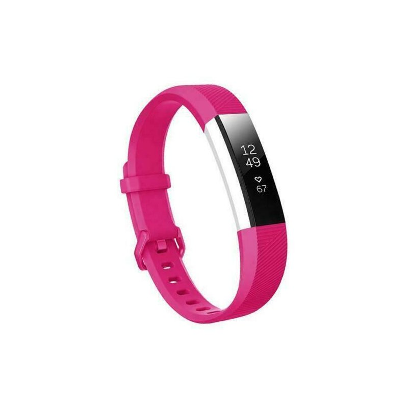 For Fitbit Alta/Alta HR Band Secure Strap Wristband Buckle Bracelet  rose Red_L