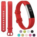 For Fitbit Alta/Alta HR Band Secure Strap Wristband Buckle Bracelet  red_L