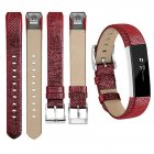For Fitbit Alta Watch Band Wrist Strap Color Intelligent Heart Rate Replacement Watch Band Cowhide red