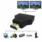 For HDMI 1-in-2 Out 1080P HDMI Splitter Adapter Converter For PS4 Xbox HDTV Projector black