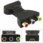 For HDMI to 3RC Adapter HDMI to RGB RCA Component Converter Gold-plated AV Video Adapter  black