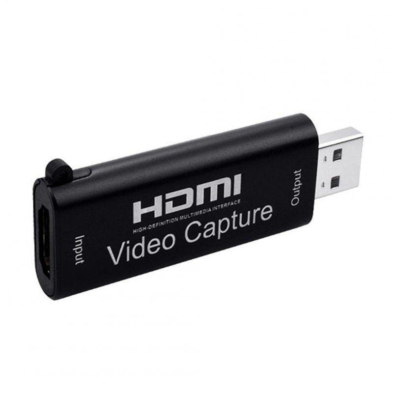 For HDMI to USB 2.0 Video Capture Card 1080P Audio Capture Recorder Device for PS4 XBOX Phone PC Game black