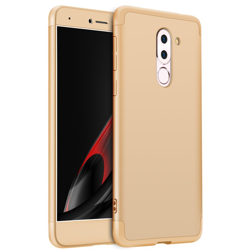 For HUAWEI Honor 6X/GR5 2017 3 in 1 Hybrid Hard Case Full Body 360 Degree Protection Back Cover  Gold