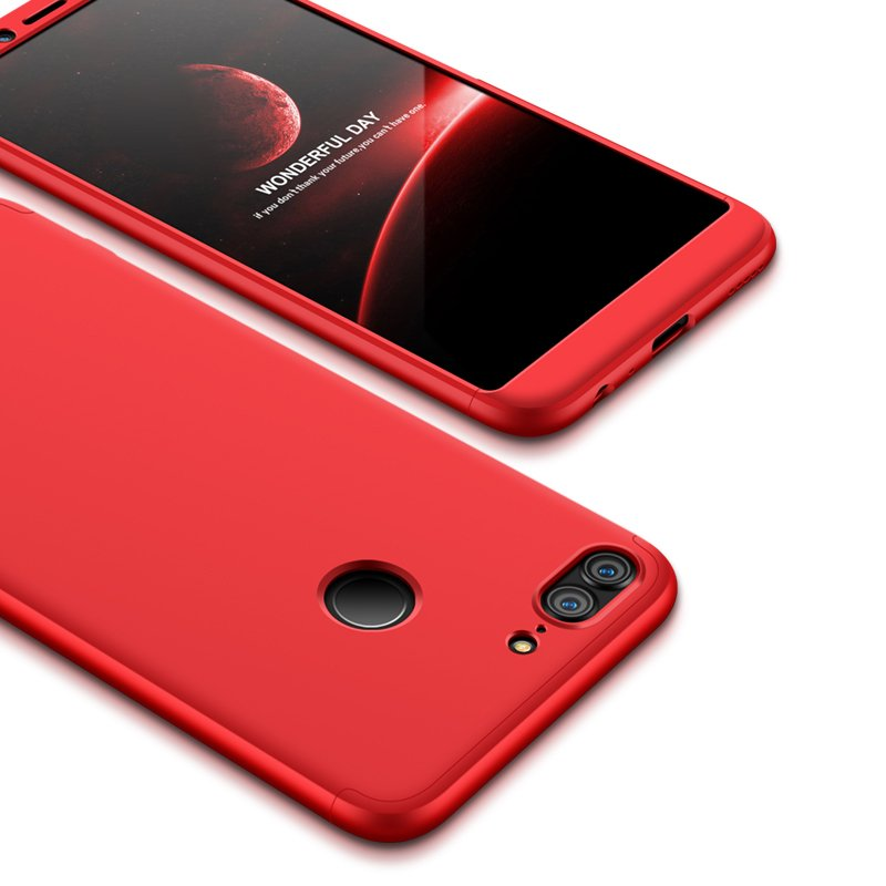 For HUAWEI Honor 9 Lite Full Body 360 Degree Protection PC Back Cover  red