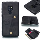 For HUAWEI MATE 20 Double Buckle Non-slip Shockproof Cell Phone Case with Card Slot Bracket black