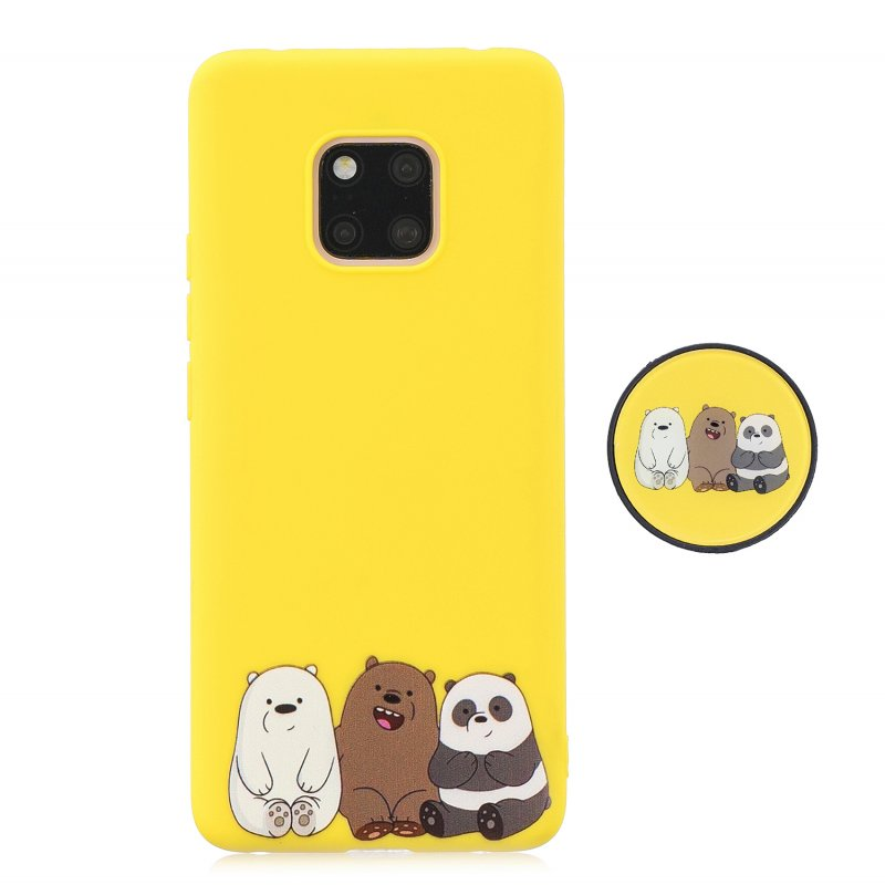 For HUAWEI MATE 20 pro Pure Color Phone Cover Cute Cartoon Phone Case Lightweight Soft TPU Phone Case with Matching Pattern Adjustable Bracket 7