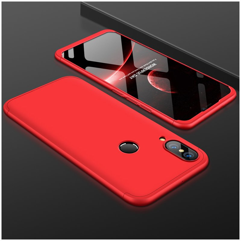 For HUAWEI NOVA 3 3 in 1 360 Degree Non-slip Shockproof Full Protective Case red