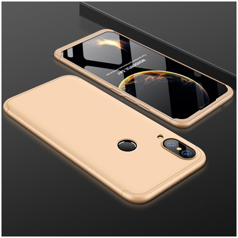 For HUAWEI NOVA 3 3 in 1 360 Degree Non-slip Shockproof Full Protective Case gold