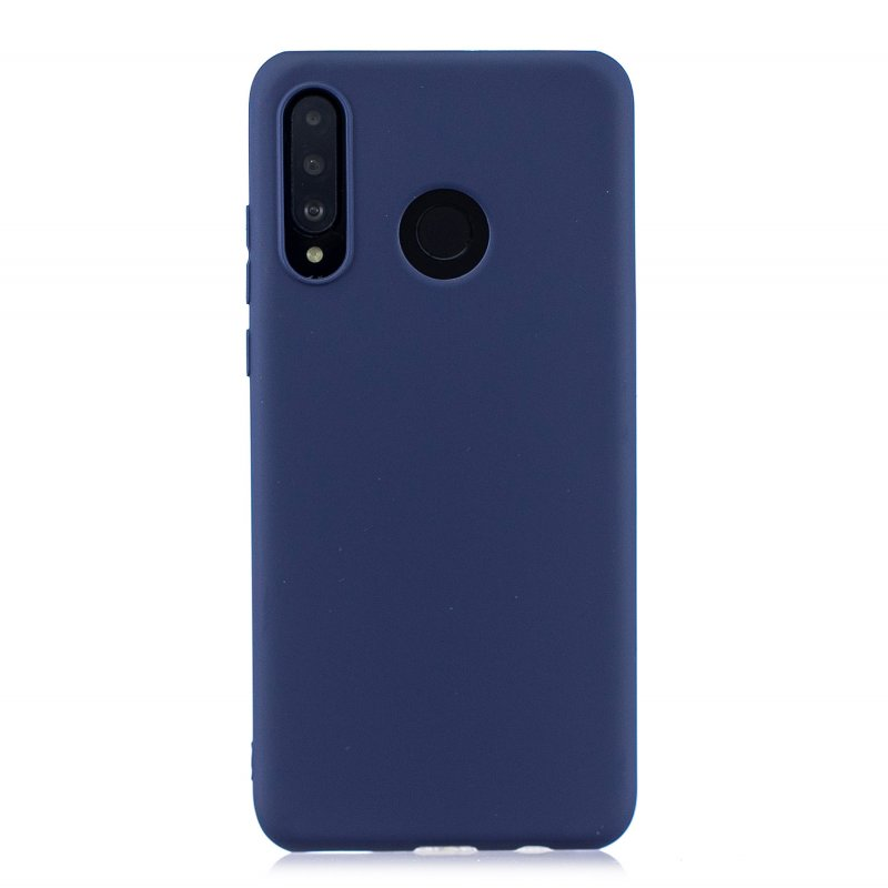 For HUAWEI P30 LITE/NOVA 4E Lovely Candy Color Matte TPU Anti-scratch Non-slip Protective Cover Back Case Navy