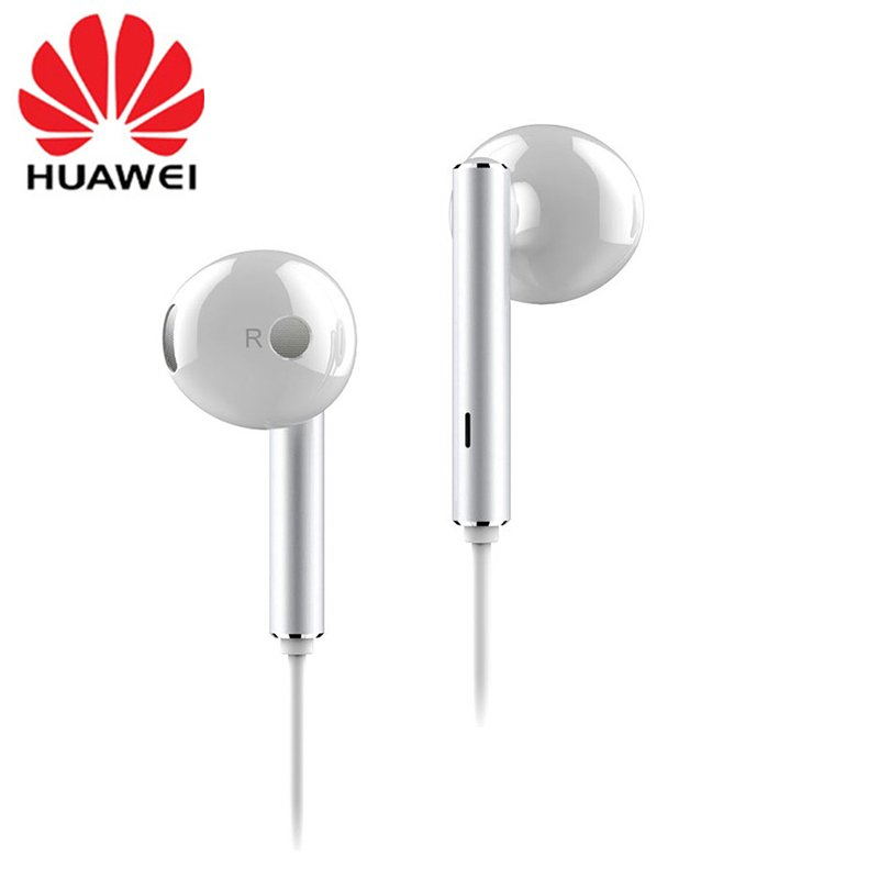 For HUAWEI P7 P8 P9 Lite P10 Plus Honor 5X 6X Mate 7 8 9 Huawei Honor AM116 Earphone Metal With Mic Volume Control  white