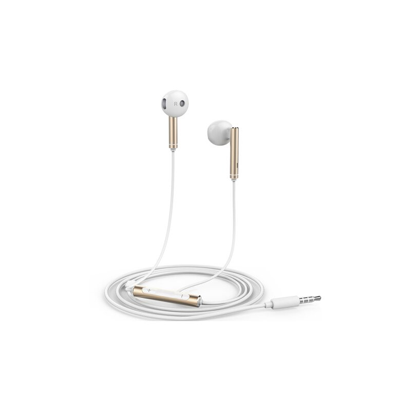 For HUAWEI P7 P8 P9 Lite P10 Plus Honor 5X 6X Mate 7 8 9 Huawei Honor AM116 Earphone Metal With Mic Volume Control  Gold