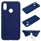 For HUAWEI Y6 2019 Lovely Candy Color Matte TPU Anti scratch Non slip Protective Cover Back Case Navy