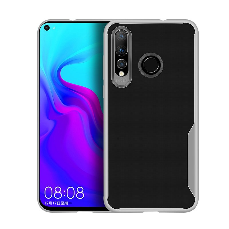 For HUAWEI Y6 PRO 2019 Ultra Slim Translucent Non-slip Shockproof TPU Back Cover Transparent White