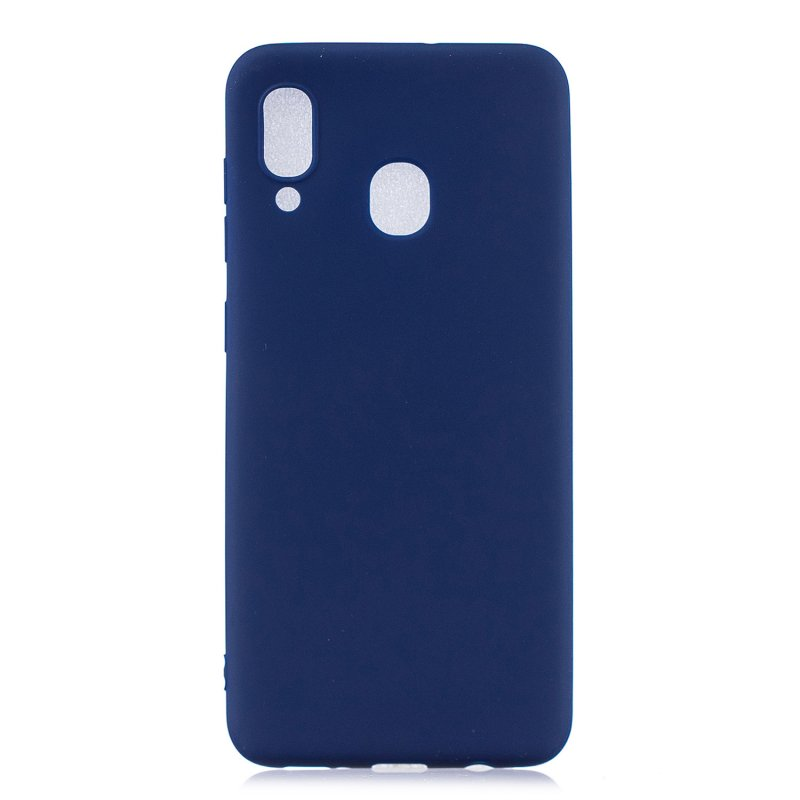 For HUAWEI Y9 2019 Lovely Candy Color Matte TPU Anti-scratch Non-slip Protective Cover Back Case Navy