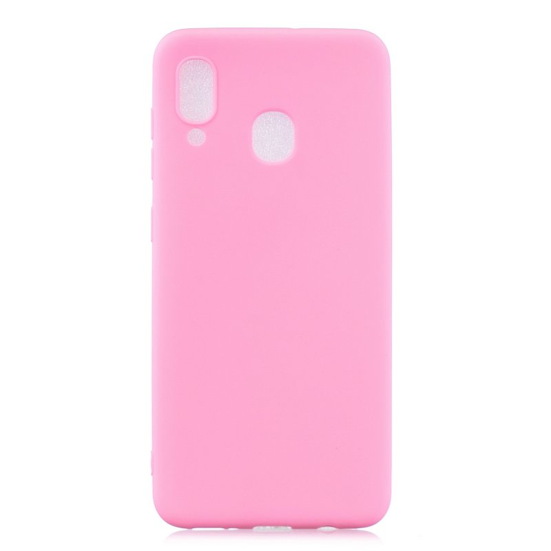 For HUAWEI Y9 2019 Lovely Candy Color Matte TPU Anti-scratch Non-slip Protective Cover Back Case dark pink