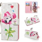 For HUAWEI honor 7C / Enjoy 8/Y7PRIME 2018/Y7 PRO 2018/NOVA2 LITE 3D Coloured Painted PU Magnetic Clasp Phone Case with Card Slots Bracket Lanyard Flower panda